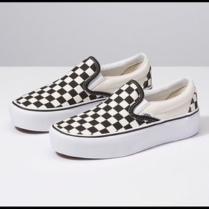 BRAND NEW Checkered black and white Vans